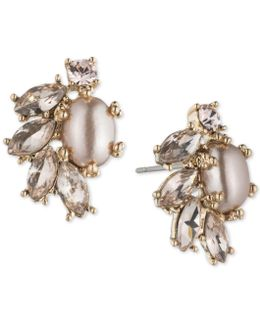 Crystal & Imitation Pearl Stud Earrings