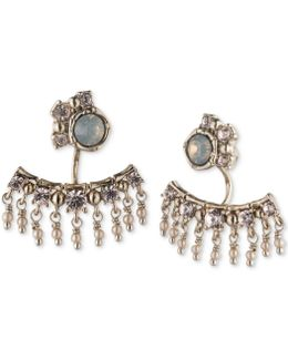Gold-tone Stone And Crystal Earring Jackets