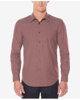 Men's Classic-fit Printed Dress Shirt