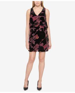Velvet Popover Shift Dress