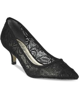 Lois Lace Pointed-toe Pumps