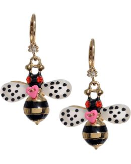 Bumble Bee Drop Earrings