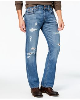 Men's Straight-fit Ripped Jeans