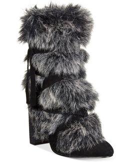Alberta Faux Fur Belted Bootie