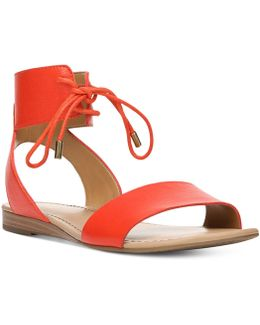 Glenys Lace-up Flat Sandals