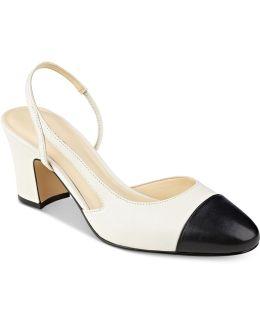 Liah Slingback Block-heel Pumps