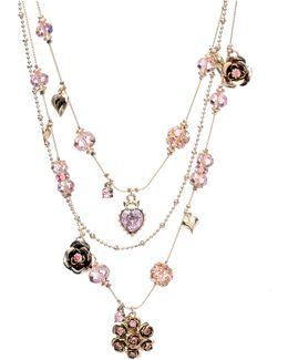Pink Crystal Illusion Necklace