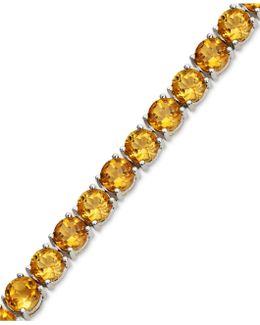 Sterling Silver Bracelet, Citrine Row (17 Ct. T.w.)