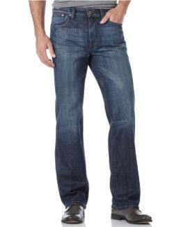 Classic Fit Straight-leg Jeans, Martin Wash