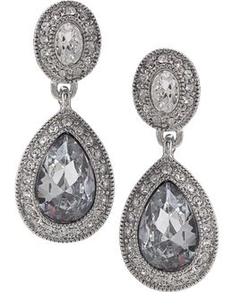 Earrings, Crystal Drop