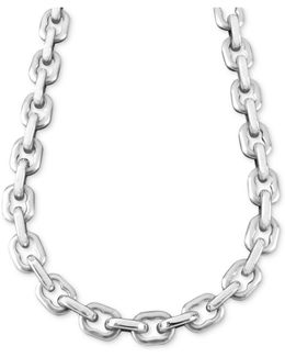 """Men's Stainless Steel Necklace, 24"""" Anchor Link"""