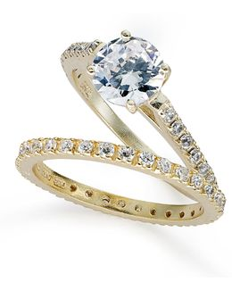 Sterling Silver Ring Set, Cubic Zirconia Wedding Band And Engagement Ring Set (1-3/4 Ct. T.w.)