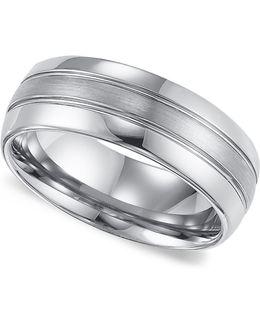 Men's Tungsten Carbide Ring, Comfort Fit Wedding Band (8mm)