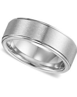 Men's Cobalt Ring, Comfort Fit Wedding Band