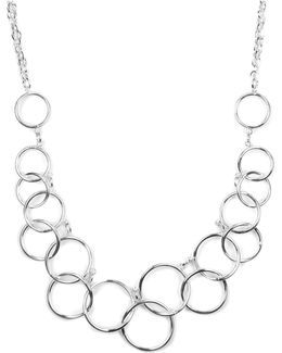Necklace, Silver-tone Circle Frontal Necklace
