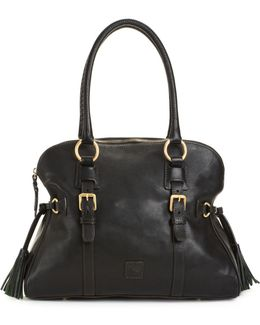 Handbag, Florentine Domed Buckle Satchel