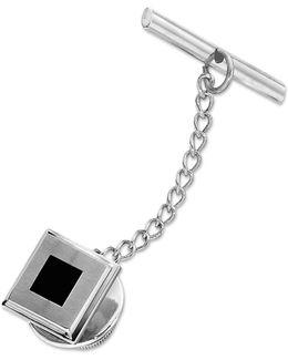 Stainless Steel Tie Tac, Black Enamel Tie Tac