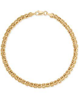 Small Byzantine Bracelet In 14k Gold