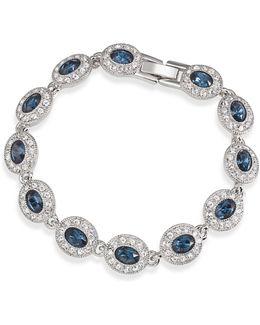 Bracelet, Silver-tone Oval Stone Flex Bracelet