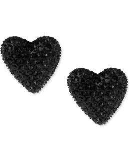 Black Heart Stud Earrings