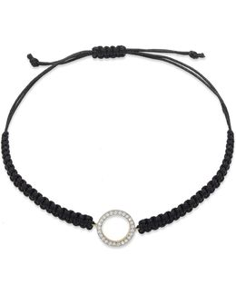 Yelloratm Diamond Circle Parachute Cord Bracelet In Yelloratm (1/6 Ct. T.w.)