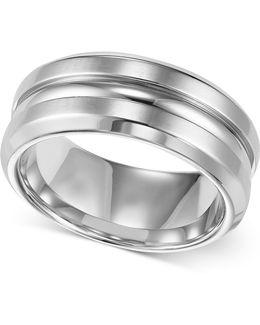 Men's Stainless Steel Ring, 8mm Wedding Band