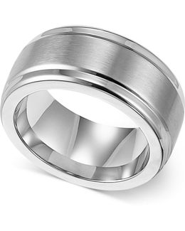 Men's Stainless Steel Ring, 9mm Wedding Band