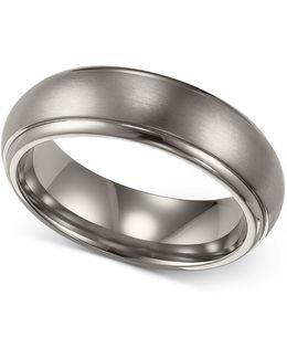 Men's Titanium Ring, Comfort Fit Wedding Band (6mm)