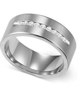 Men's Channel-set Diamond Wedding Band In Cobalt (1/4 Ct. T.w.)