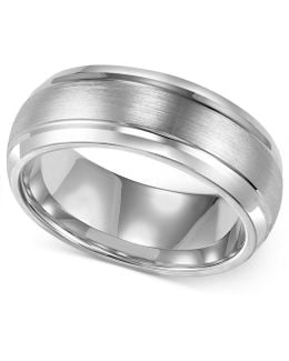 Men's Cobalt Ring, 8mm Wedding Band