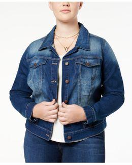 Trendy Plus Size Pixie Jefford Wash Denim Jacket