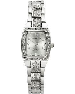 Women's Silver-tone Crystal Bracelet 28mm