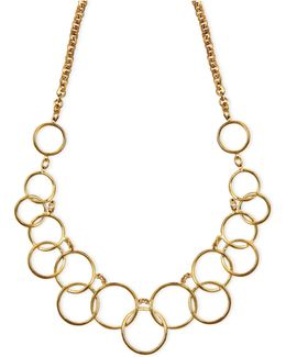 1necklace, Gold-tone Circle Frontal Necklace