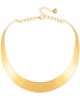 Necklace, Gold-tone Half-moon Collar Necklace