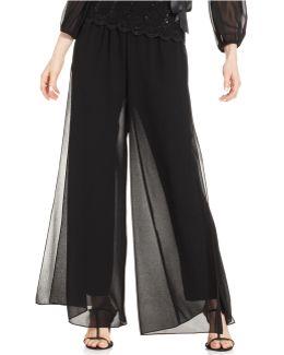 Pants, Wide-leg Chiffon
