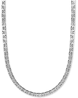 """Men's Sterling Silver Necklace, 22"""" 8mm Marina Chain"""