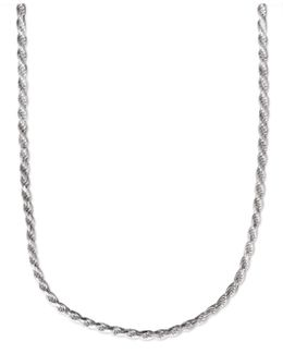 """Men's Sterling Silver Necklace, 22"""" 4-1/2mm Rope Chain"""
