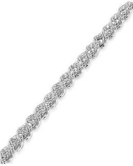 Diamond Bracelet In 10k White Gold (1 Ct. T.w.)