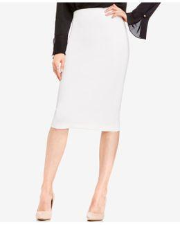 Skirt, Ponte-knit Midi