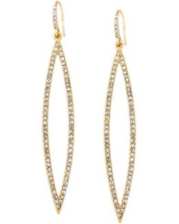 Earrings, Gold-tone Pave Crystal Marquise Drop Earrings