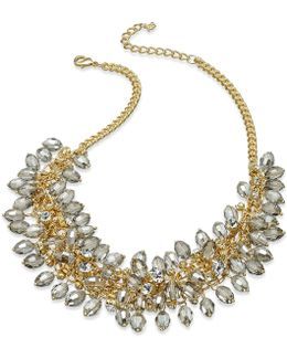 Necklace, Gold-tone Shaky Beaded Frontal Necklace