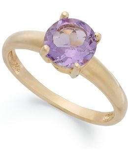18k Gold Over Sterling Silver Ring, Amethyst February Birthstone Ring (1-1/3 Ct. T.w)