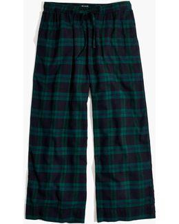 Flannel Bedtime Pajama Pants In Dark Plaid Flannel Bedtime Pajama Top In Dark Plaid