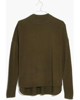Mockneck Boxy Pullover Sweater