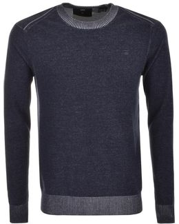 Core R Plated Knit Jumper Blue