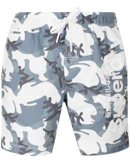 Premium Neo Camo Swim Shorts Grey