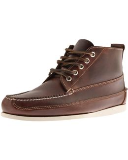 Weejun Ranger Pull Up Leather Boots Brown