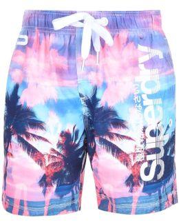 Premium Neo Refective Swim Shorts Pink