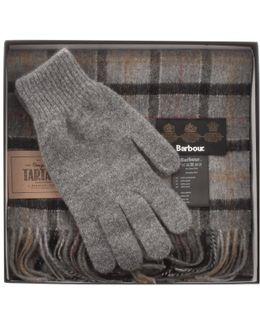Lambswool Scarf And Gloves Giftset Grey