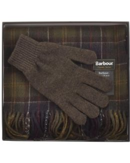 Lambswool Scarf And Gloves Giftset Green